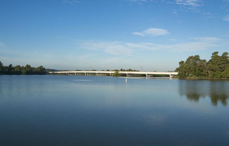 Photo of Lake Houston - Looking at the West Lake Houston Parkway bridge